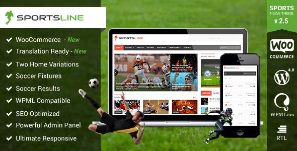 wordpress sports club theme