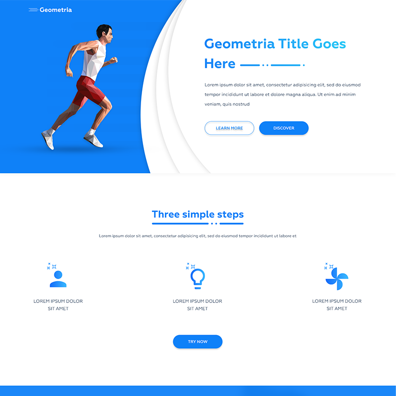 Runner Onepage – HTML Templates