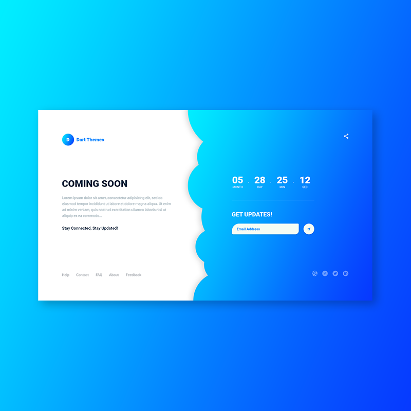 Dart Coming Soon – PSD Template