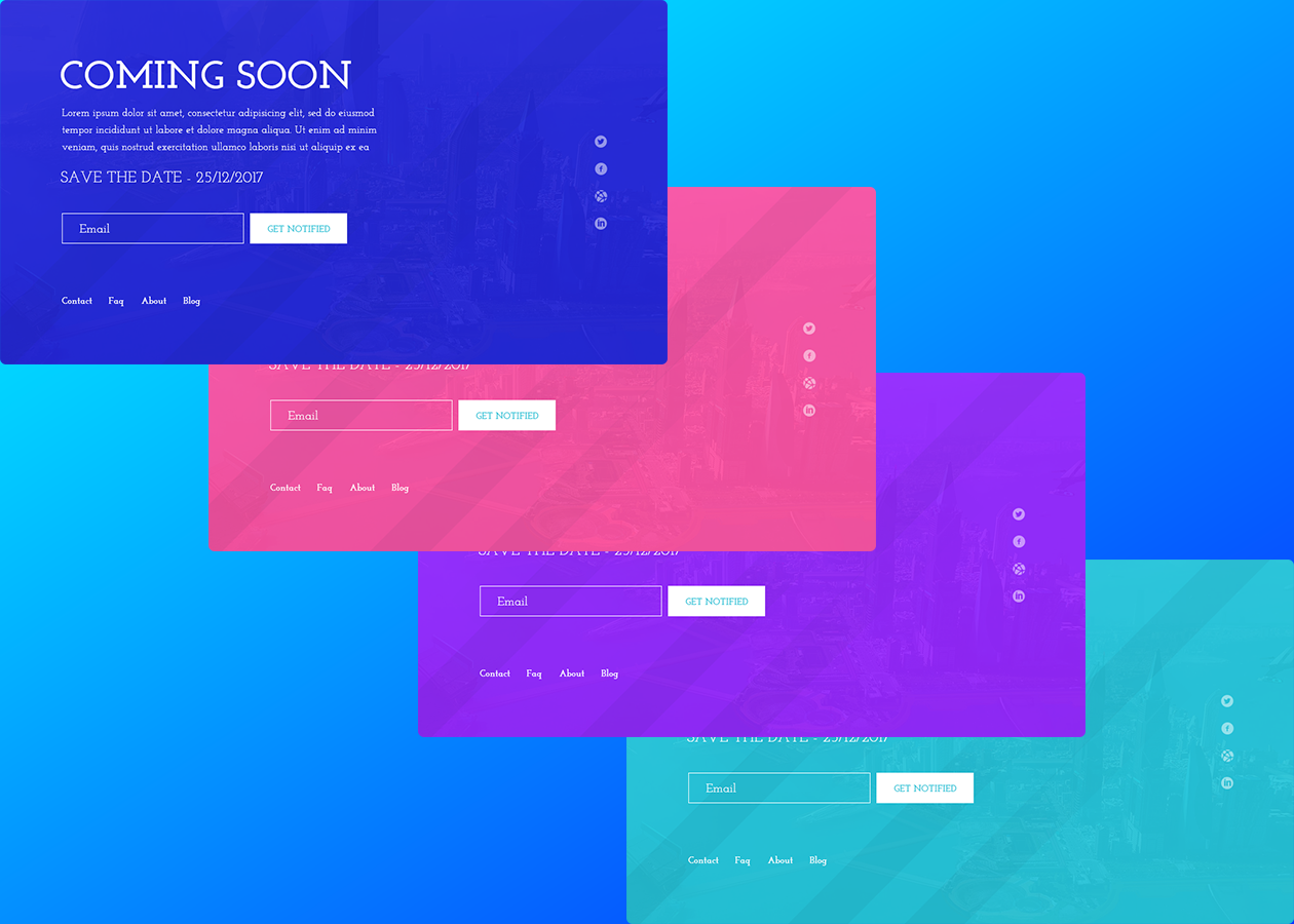 Startup Coming Soon Psd Template