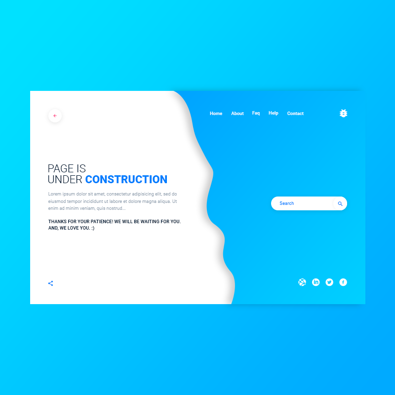 Under Construction- PSD Template