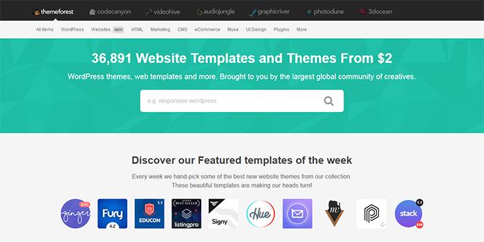 marketplaces to buy premium WordPress Themes