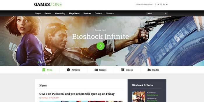 WordPress theme for game reviews