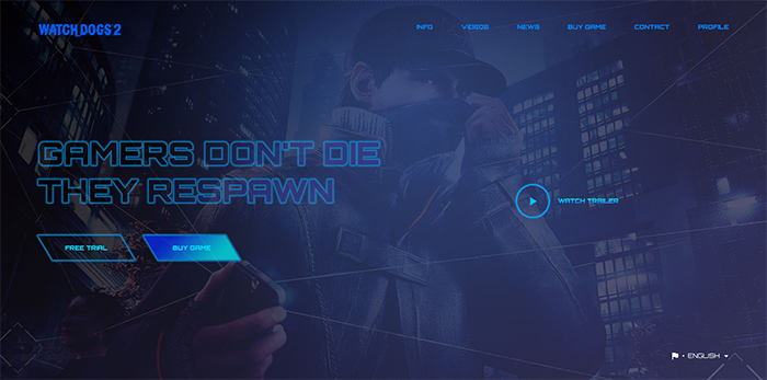 Game Landing Page - HTML Template