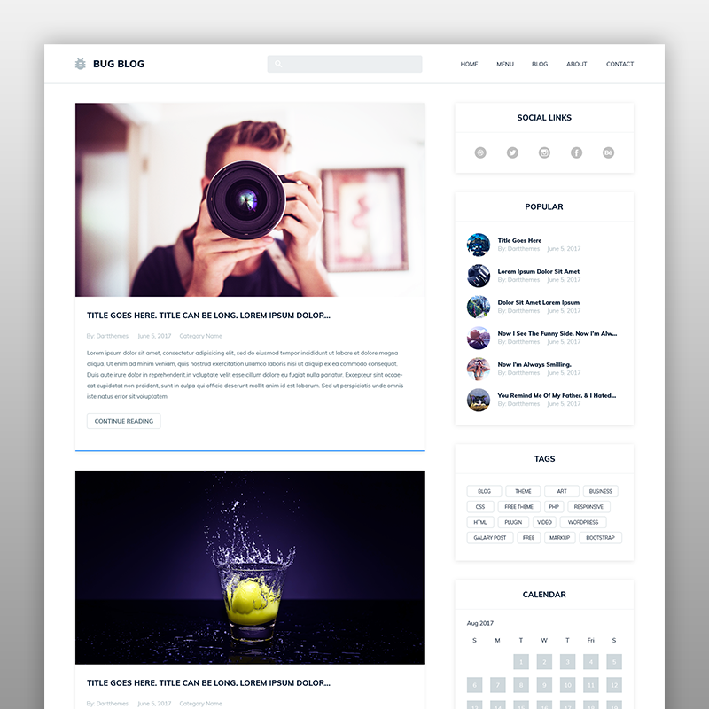 Bug Blog – WordPress Theme