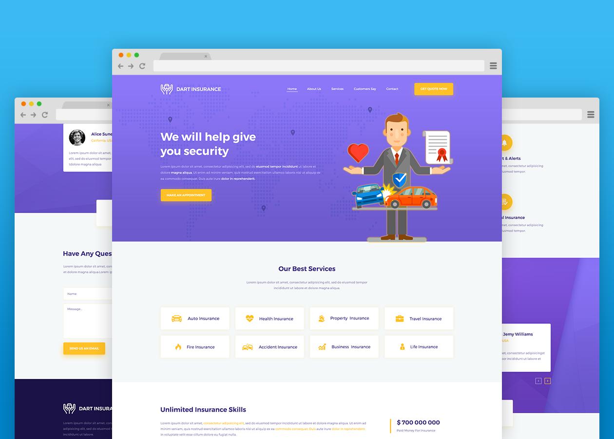 insurance html template free download  Dart Insurance - HTML Template